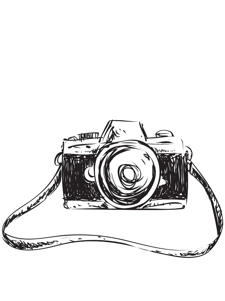 Drawing Camera Sketch Sketch Camera Creative Pull Away