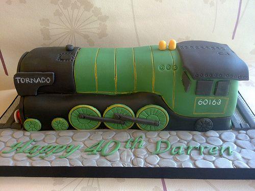 Tornado Train Cake