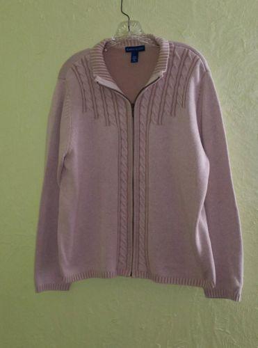 Zip front cardigan sweater tan XL KAREN SCOTT 16  cotton  https://t.co/w1QyMJvdGl https://t.co/PHoXqi76C2