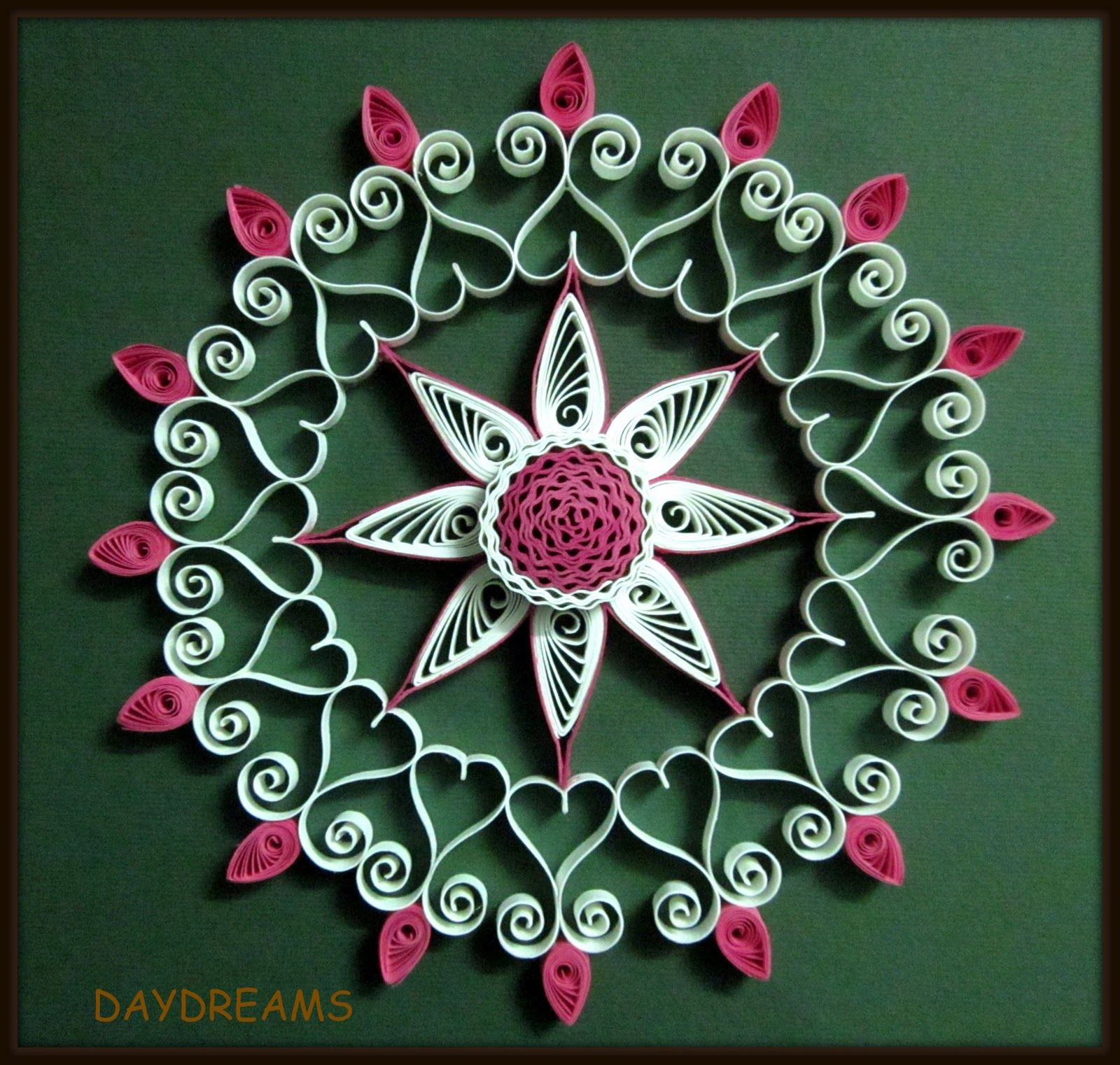 .Very Crisp look,  Really is a fine example of quilling