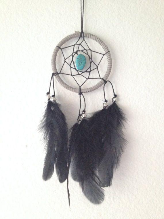 Gray Black Turquoise Stone Dream Catcher Car Mirror Dreamcatcher Magnificent Dream Catcher To Hang In Car