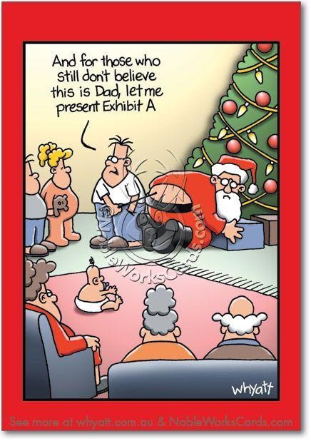 Exhibit A Funny Christmas Card Whyatt