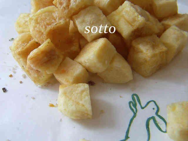 レンジでサク②♥ポテトキューブスナック♥の画像