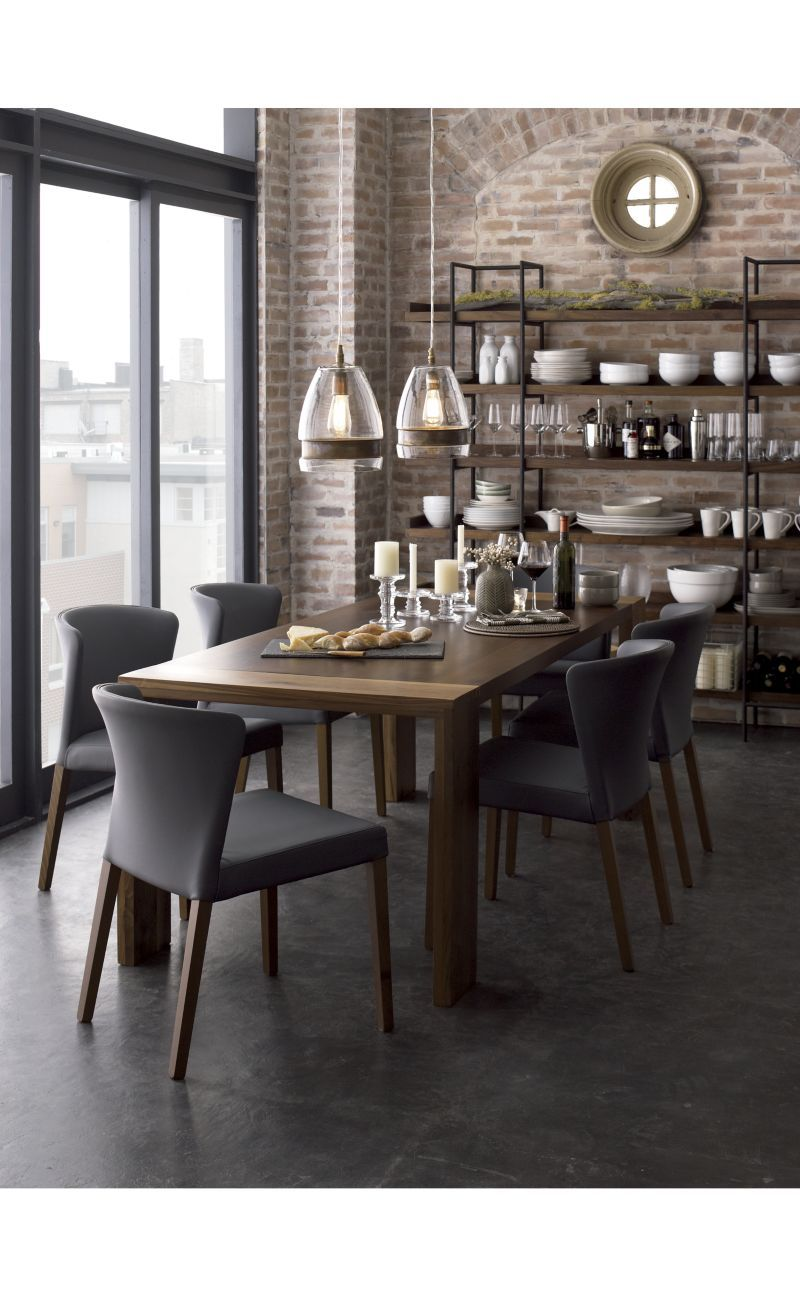 Superbe Curran Grey Dining Chair | Crate And Barrel