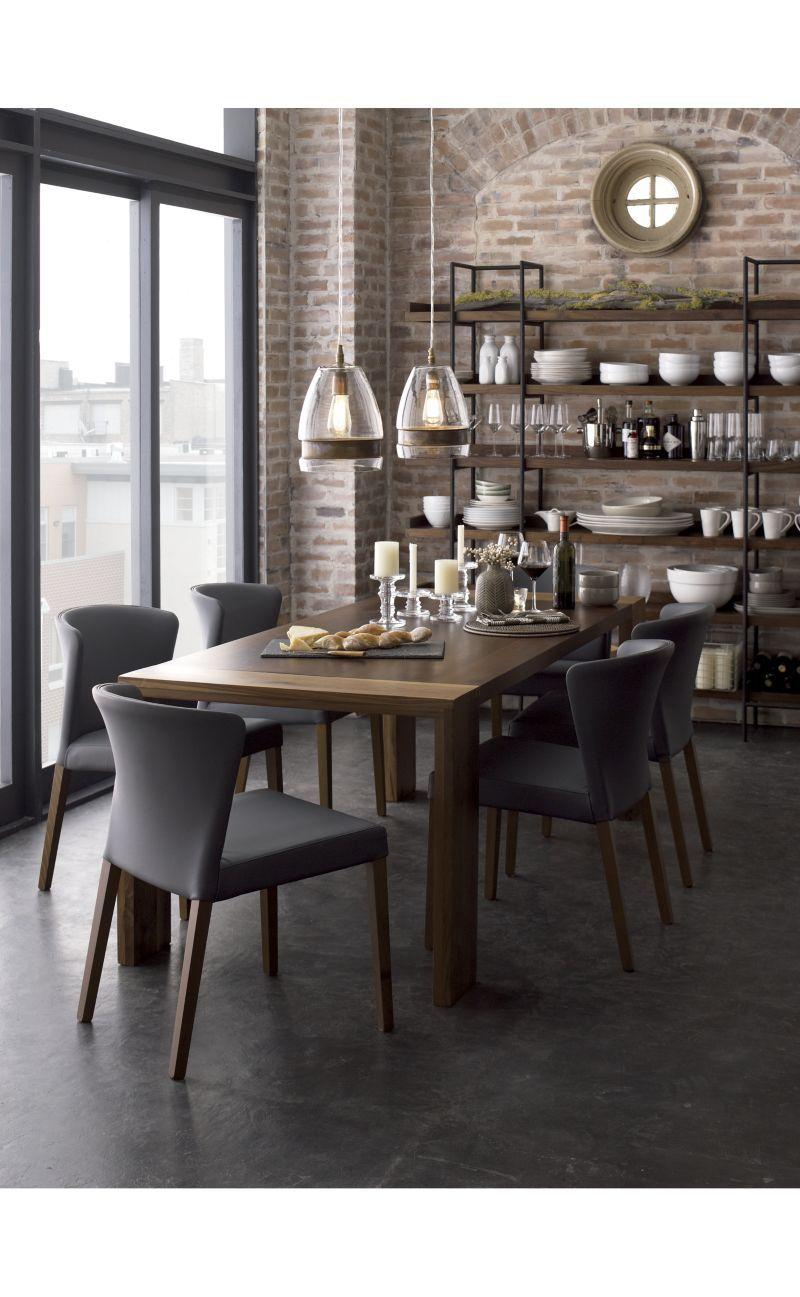 curran grey dining chair - crate and barrel | crates and barrels