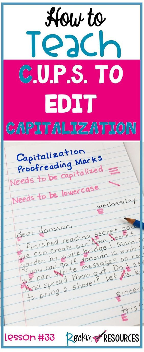 Writing Mini Lesson 33 On Capitalization Punctuation Curriculum