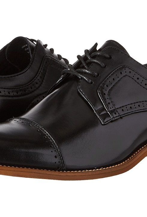 Stacy Adams Dickinson Cap Toe Oxford (Black) Men's Lace Up Cap Toe Shoes - Stacy Adams, Dickinson Cap Toe Oxford, 25066-001-001, Footwear Closed Lace Up Cap Toe, Lace Up Cap Toe, Closed Footwear, Footwear, Shoes, Gift, - Fashion Ideas To Inspire