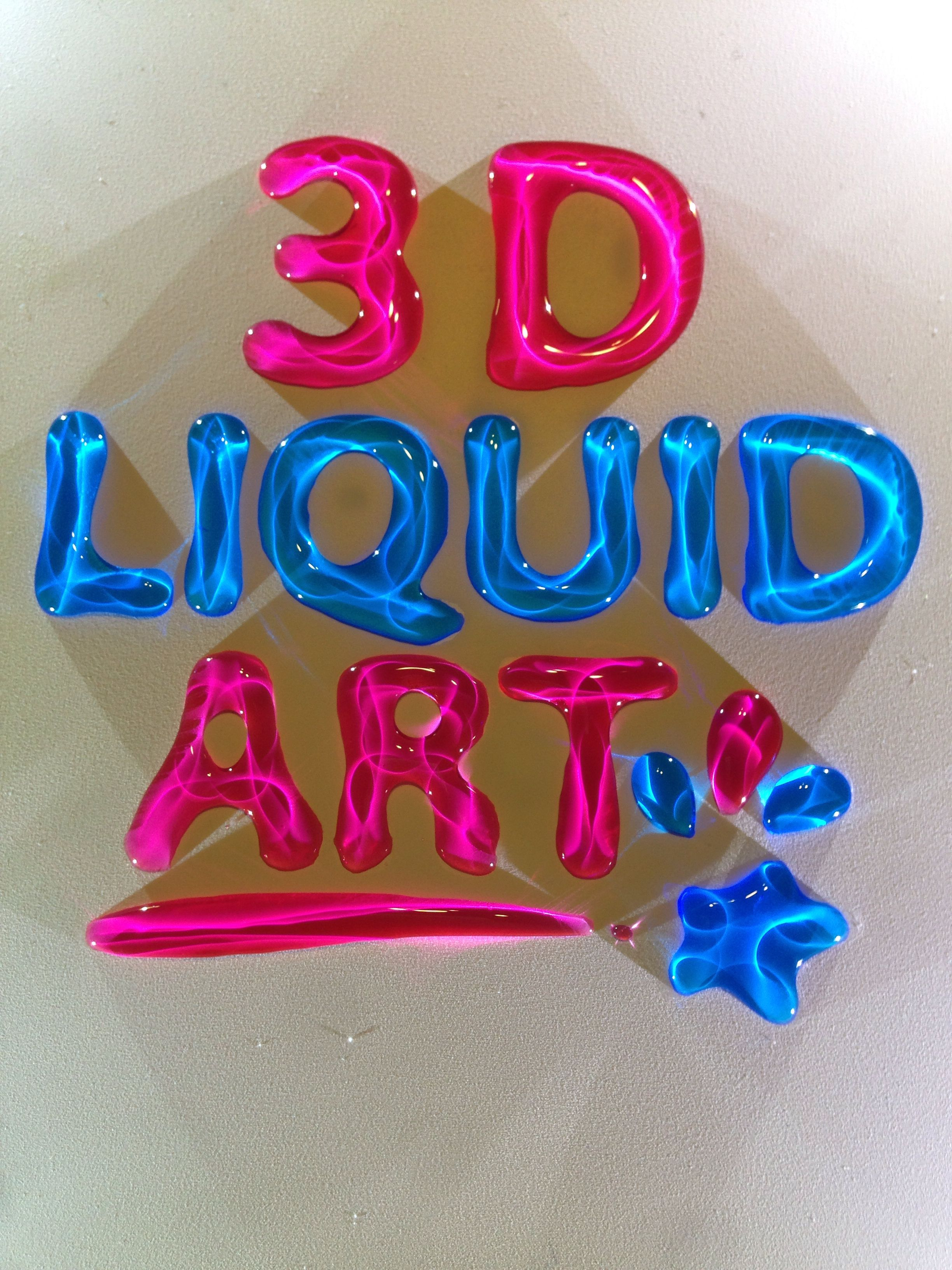 3d Liquid Art Is Made From Colored Water