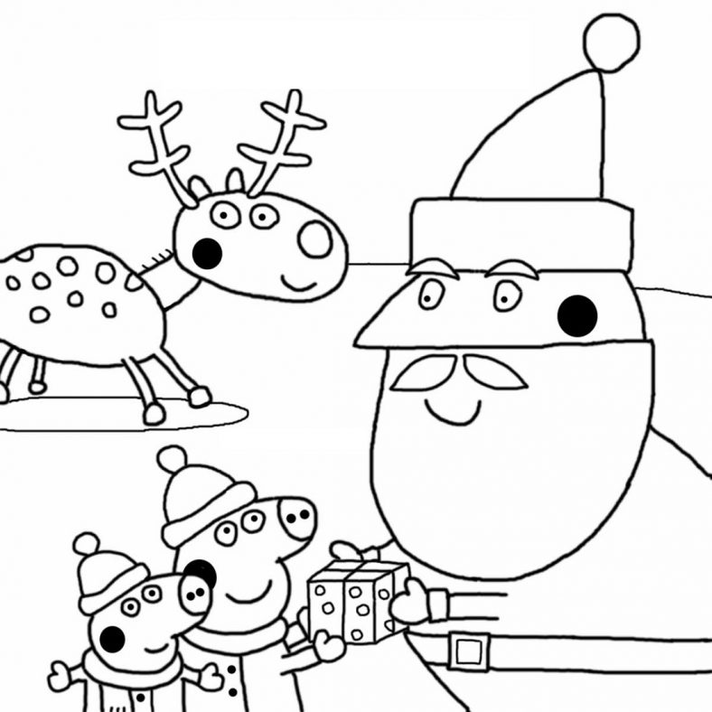 Free Peppa Pig Coloring Pages To Print 101 Coloring Peppa Pig Coloring Pages Christmas Coloring Pages Free Christmas Coloring Pages