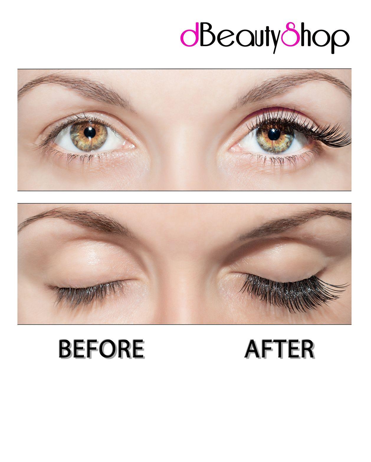 False Eye Lashes Before & After False lashes, Lashes