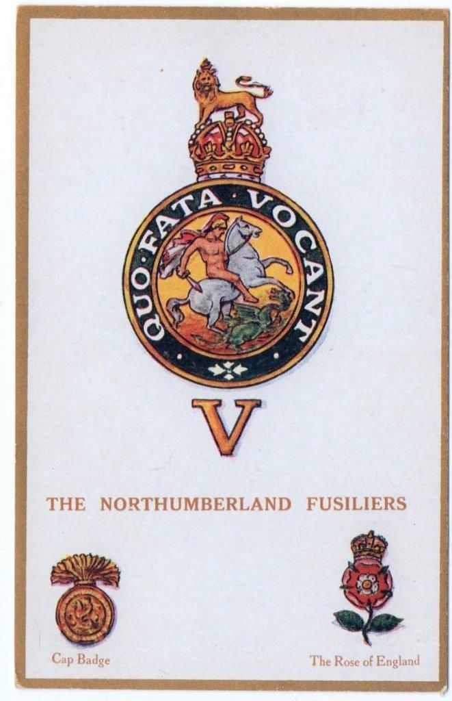Early NORTHUMBERLAND FUSILIERS Gale & Polden Regimental Badges