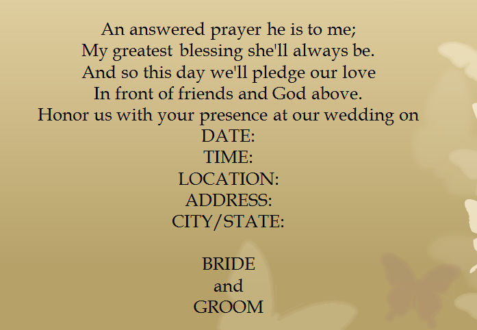 Wedding Invitation Message To Friends
