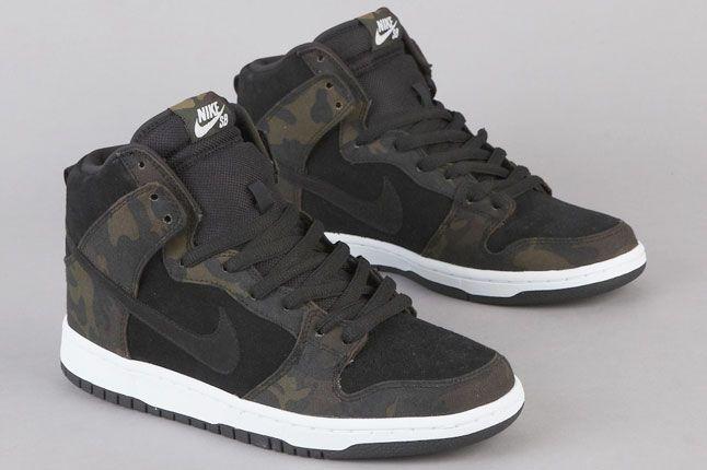 Nike SB Dunk Hi Iguana Camo | Sneakers