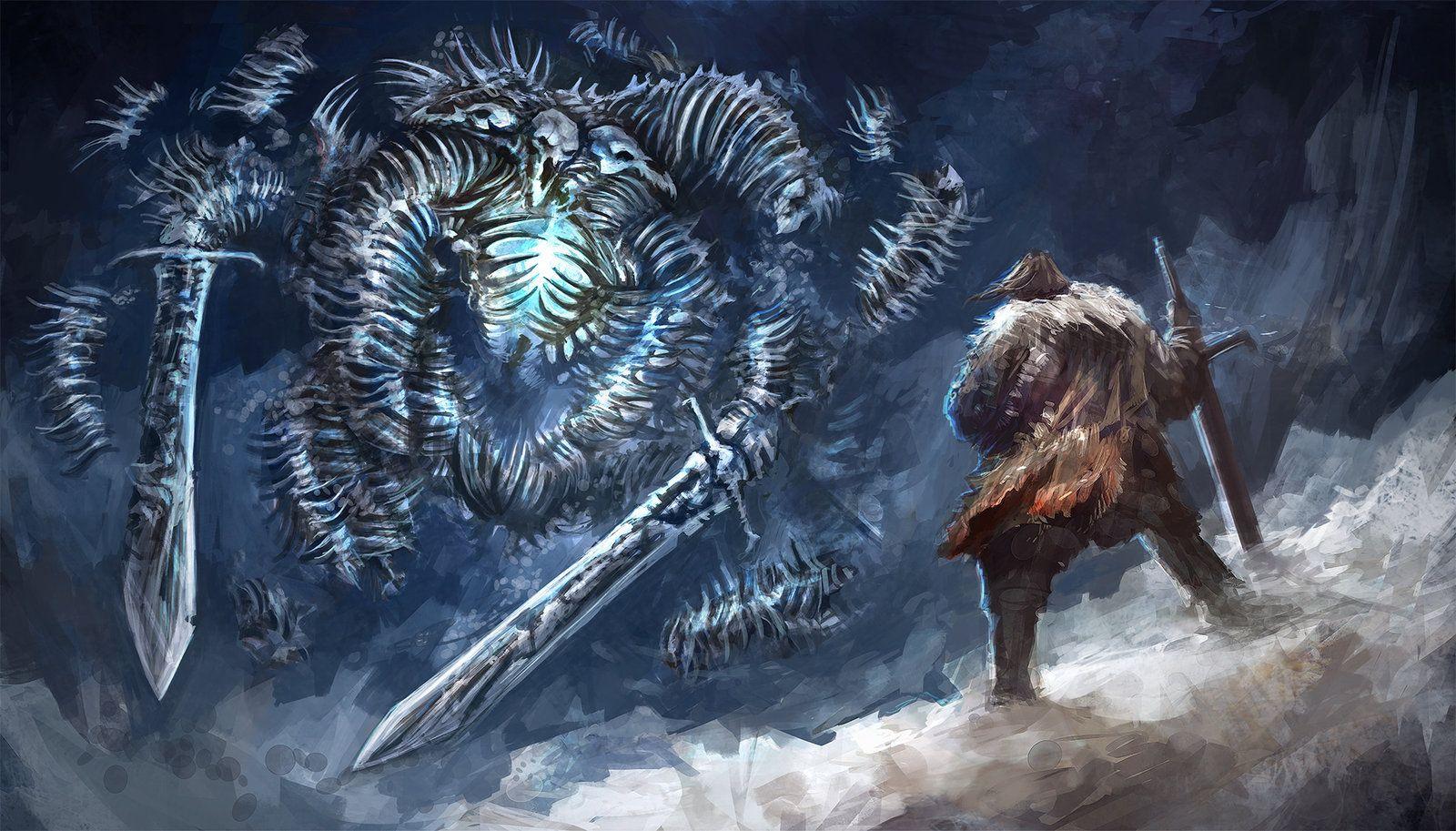 Bound By Flame Bones And Ice Alexandre Chaudret Dark Fantasy Art Art Station Artwork