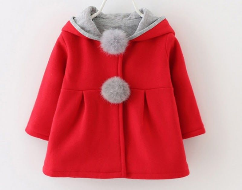6f3bdc0214ba Cheapest Autumn and Winter New Girls David Jacket Cute Long Rabbit Ears  Hooded Outerwear Infant Child