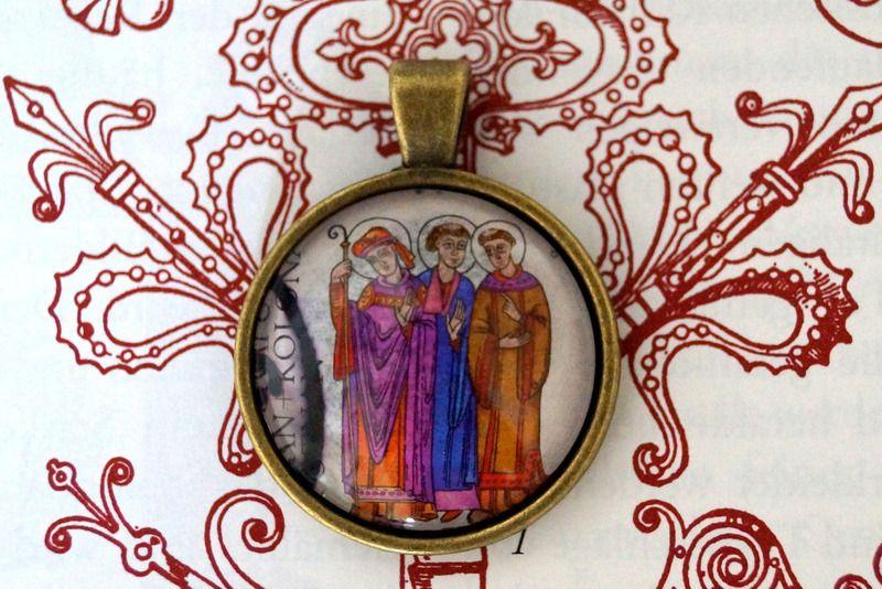 GotikART  Anhänger *  Bischof und Mönche  * von sperlingsfrau2 auf DaWanda.com