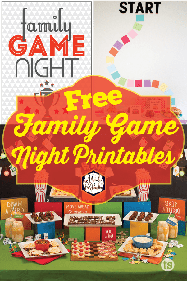 Photo of Free Family Game Night Party Printables |
