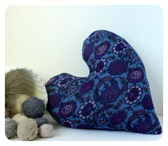 Maxi Heart Pillow from recycled sweater by Catinthecloset on Etsy, $30.00