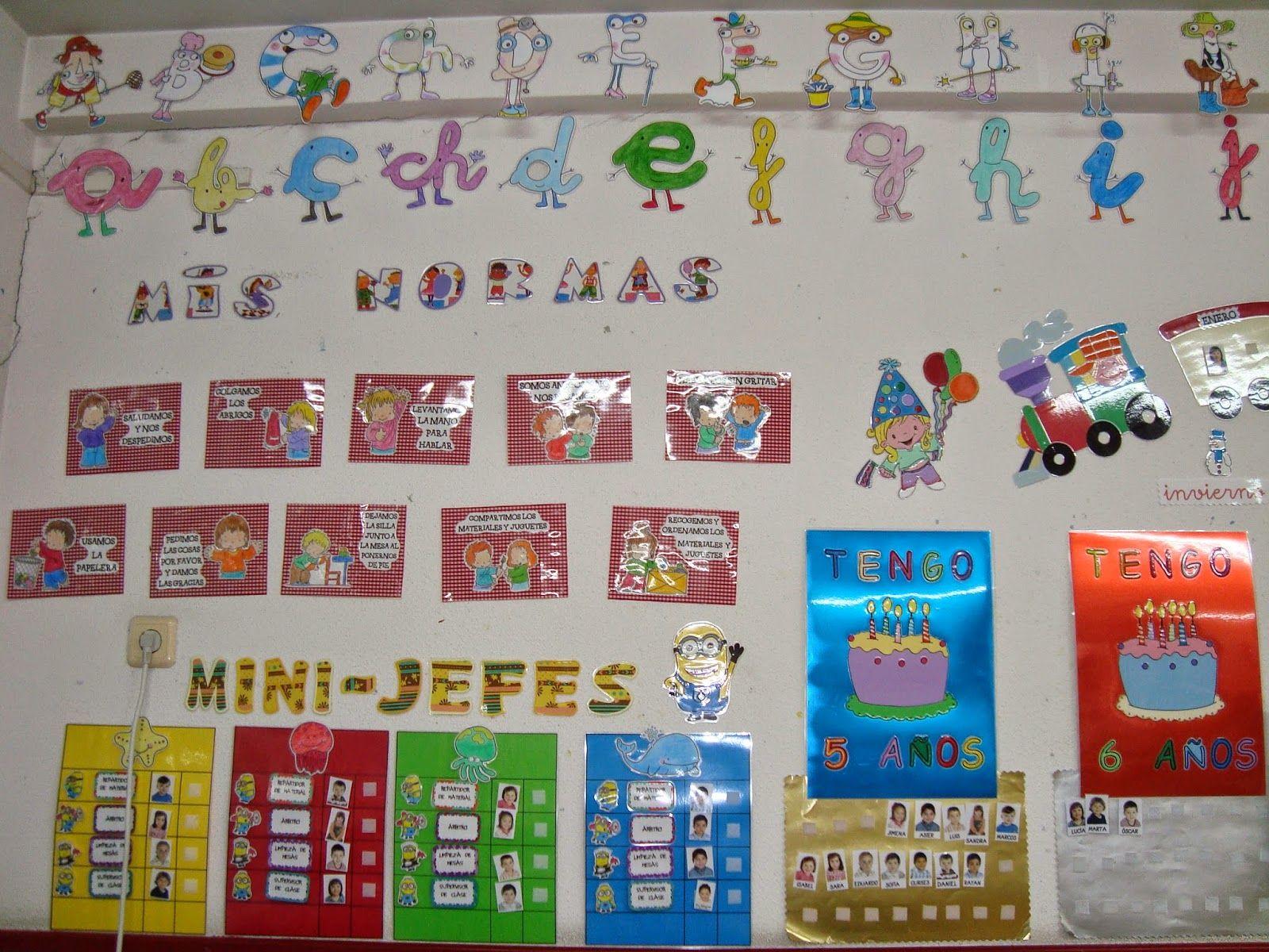 Plastificando ilusiones decoraci n de aula aula de for Decoracion aula infantil