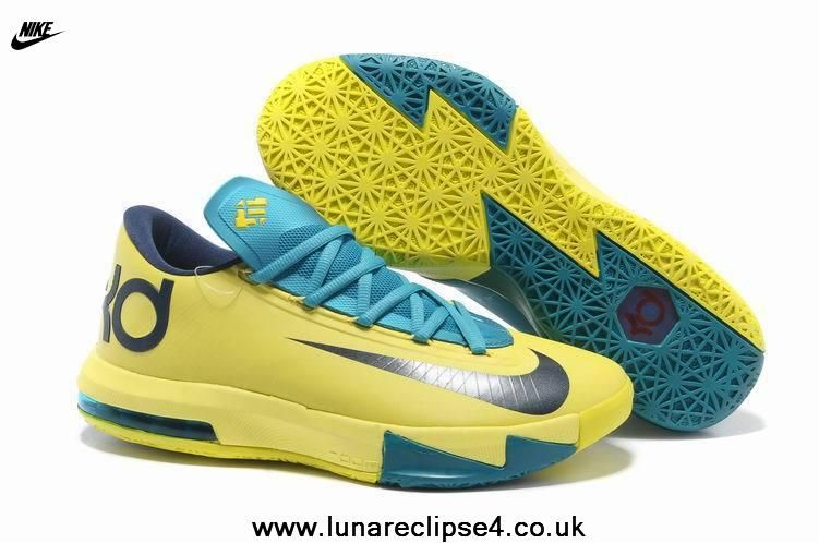 Fast Shipping To Buy Yellow Teal Navy Nike Zoom KD 6 Sale Online