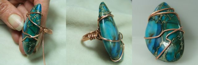 How to wire wrap a quartz crystal, a long stone or a long cabochon ...