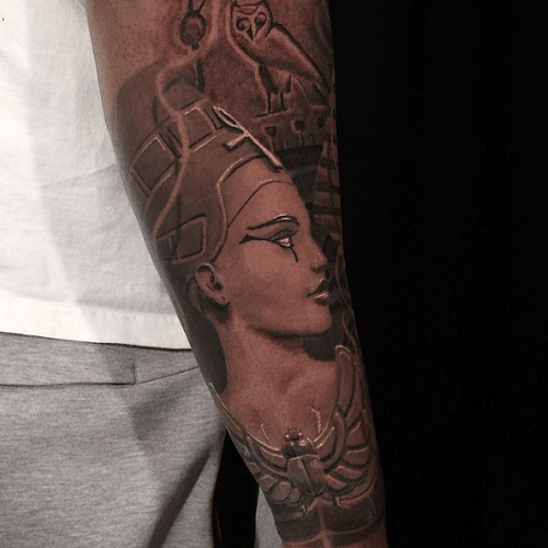 Tatouage Egyptien Bras Nefertiti Body Art Tattoos Nefertiti