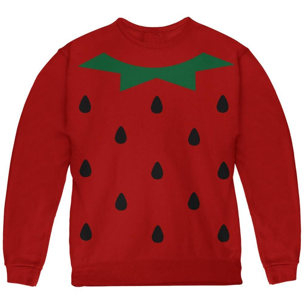 Halloween Strawberry Costume Red Youth Sweatshirt | Products | Pinterest