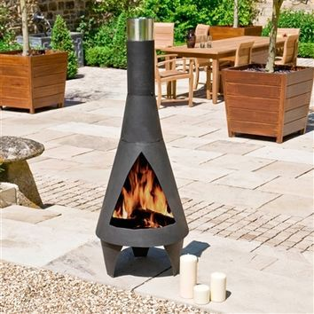 Best Chiminea Products On Wanelo Large Backyard Landscaping Contemporary Outdoor Fireplaces Large Backyard