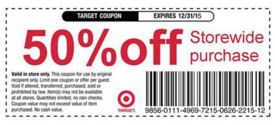 using manufacturers coupons target online