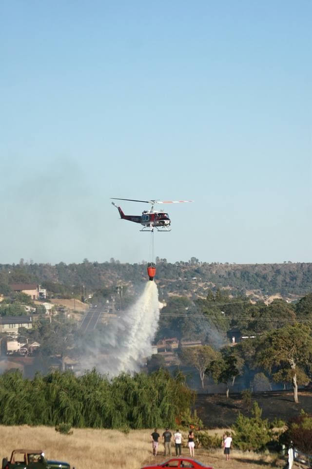 Water Drop. Photo of the fire next to our house, taken by my wife Samantha Hamilton 7/14/13