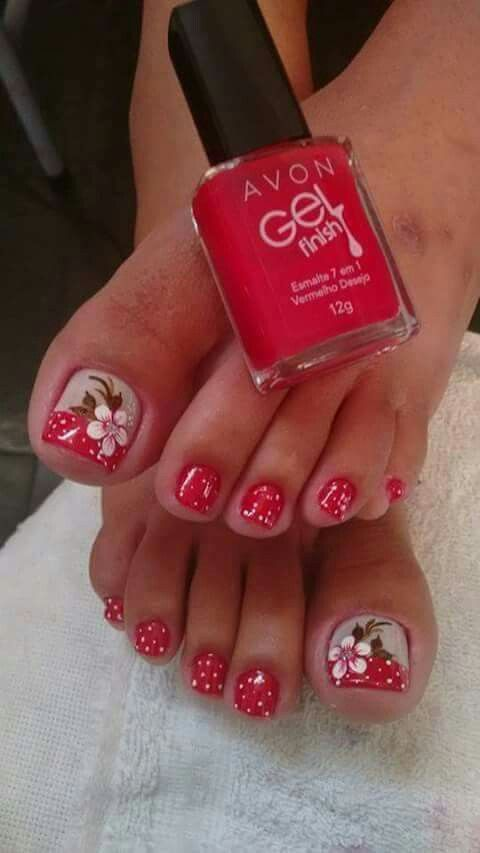 Pin de Mary Machado en Uñas | Pinterest | Pedicura, Diseños de uñas ...