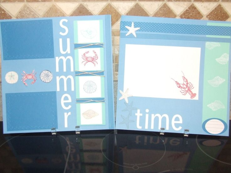 By the Seashore Scrapbook Layout