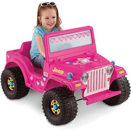 Fisher-Price Power Wheels Girls' Barbie Jeep 6-Volt Battery