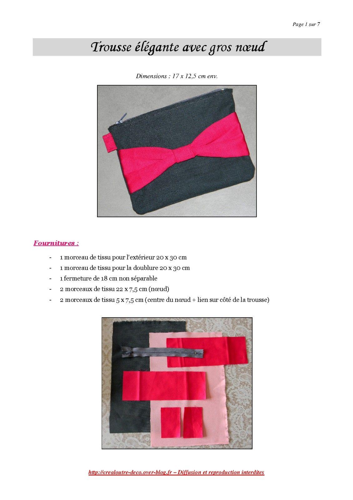 Tuto couture : la trousse élégante avec gros noeud