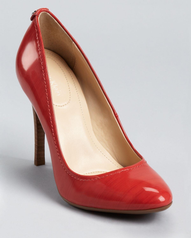 f16d1350ee6 Calvin Klein Red Pumps | Shoes | Shoes, Designer pumps, Pumps