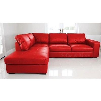 New Westpoint Corner Sofa Faux Leather Red Left Hand Side Fast Delivery Http Www Ebay Co Uk Itm New We Cheap Sofa Beds Cheap Sofas Dining Room Sofa