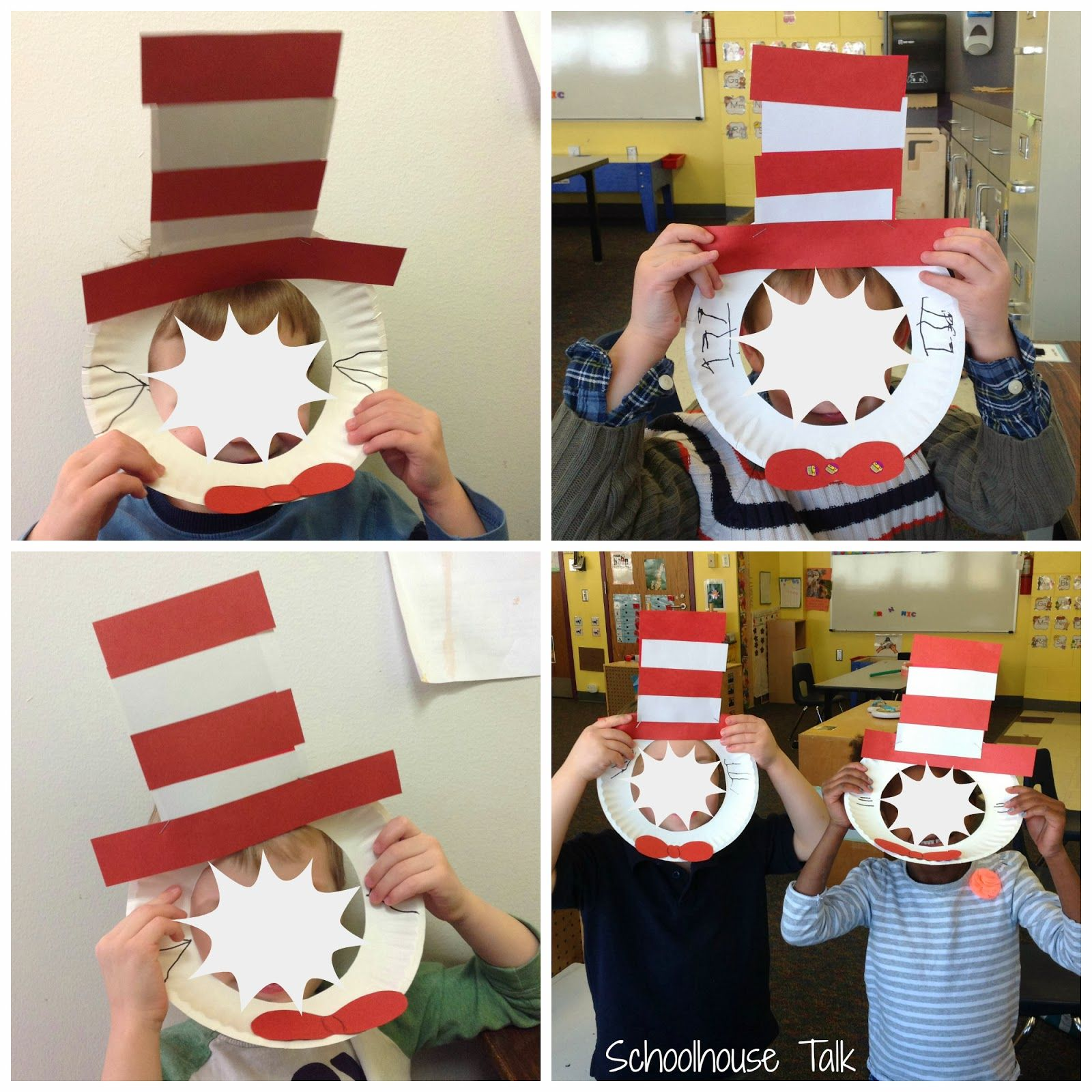 Schoolhouse Talk Cat In The Hat Mask Craftivity