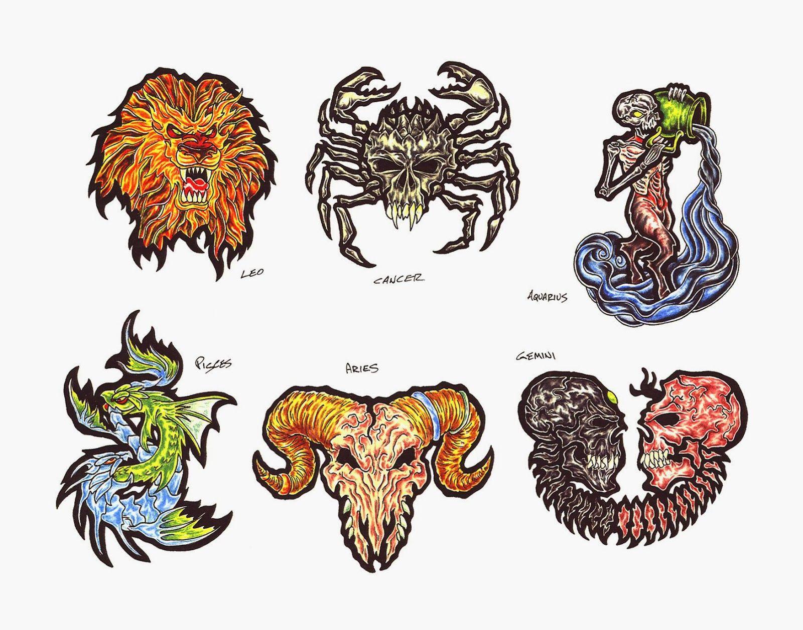 Tatuajes a Color Signos del Zodiaco 2014 - IMÁGENES del ZODIACO ...