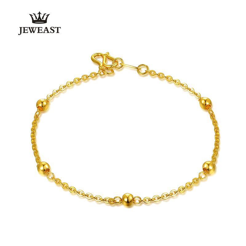 24k Pure Gold Bracelet Lady Women Genuine Real Solid Bangle Smooth ...
