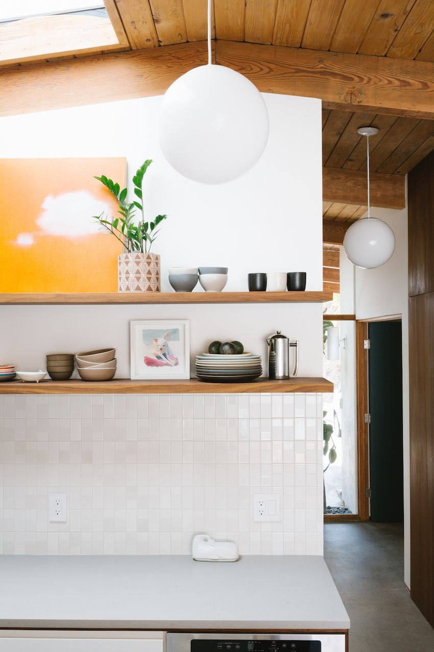 Before and after the budget conscious restoration of a - Mid century modern decor on a budget ...