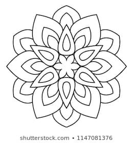 Easy Mandala Basic And Simple Mandalas Coloring Book For Adults Seniors And Beginner Mandalas Flowe Simple Mandala Mandala Coloring Pages Mandala Coloring