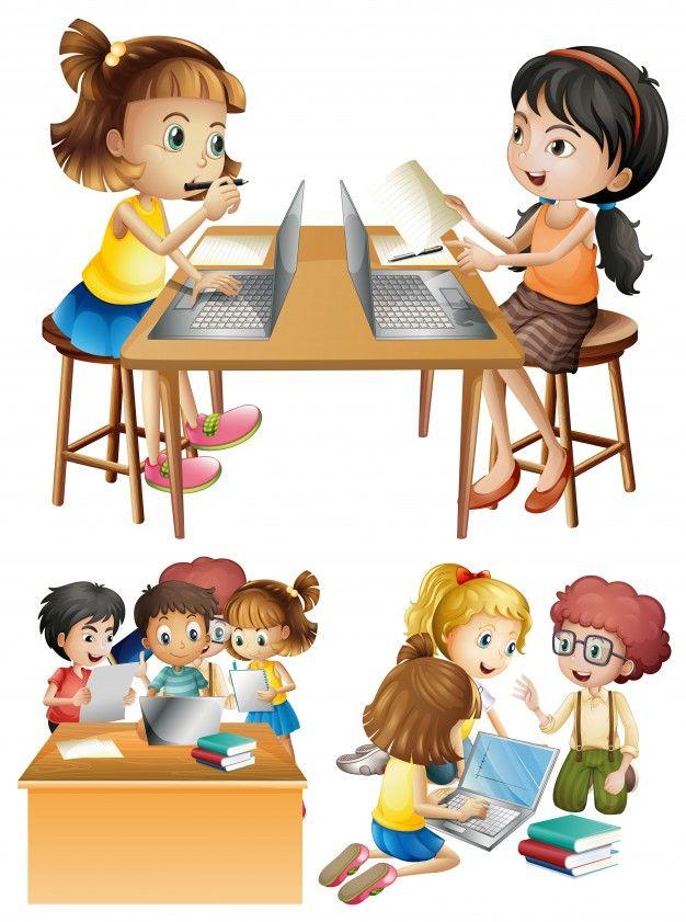 Download Students Working On Computer For Free Clase De Informatica Imagenes Para Diapositivas Dibujos Para Ninos