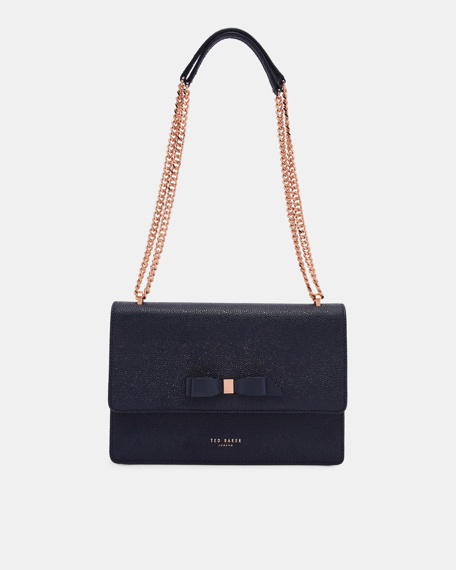 59353892f5 Bow Detail Leather Cross Body Bag Leather Crossbody Bag, Black Bags, Ted  Baker,