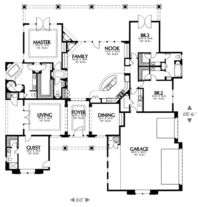 1317I House Plan 6525 - 3 Bedrooms and 3.5 Baths | The House Designers