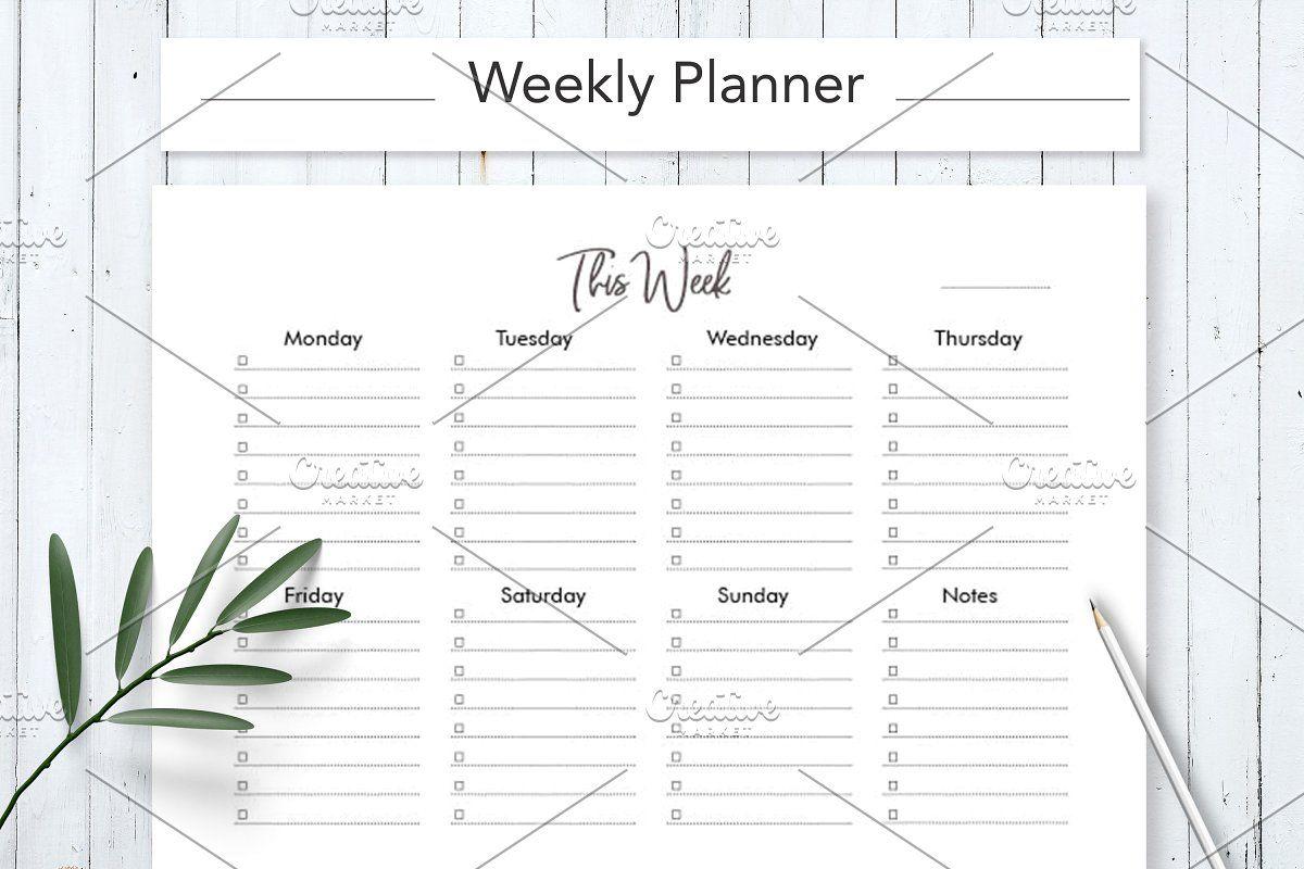 Student Weekly Planner In 2020 Student Weekly Planner Student Planner Printable Weekly Planner