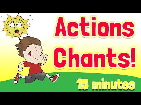 Action Verbs Chants and Songs Collection by ELF Kids Videos - action verbs