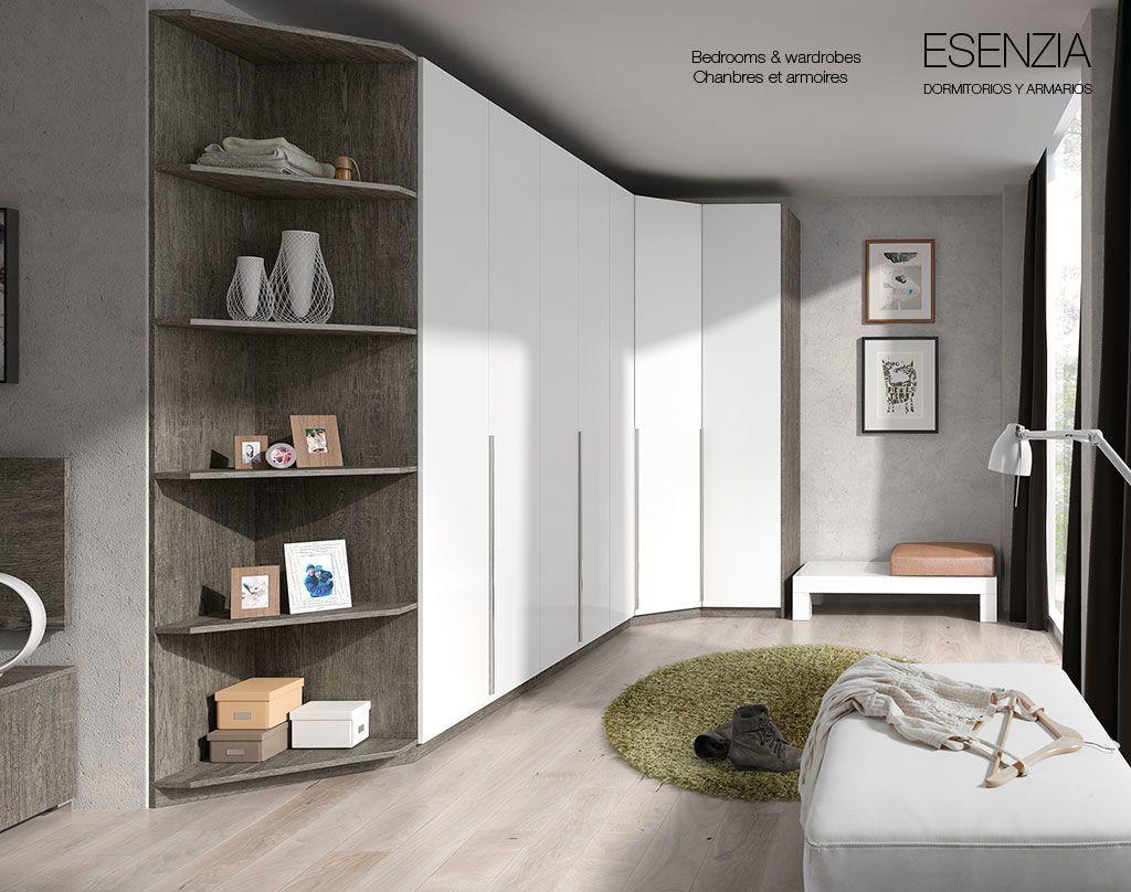 armario rincon del catlogo de dormitorios y armarios esenzia de baixmoduls