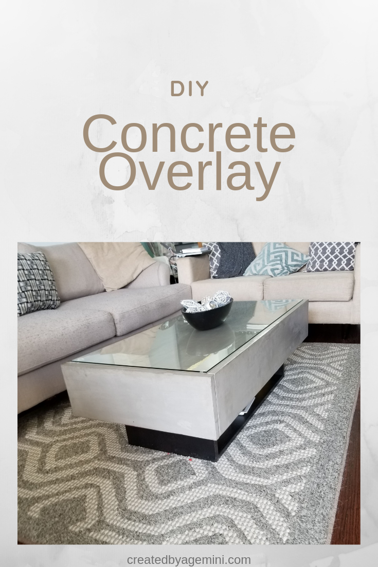 Concrete Overlay Coffee Table Coffee Table Concrete Diy Concrete Coffee Table [ 1102 x 735 Pixel ]
