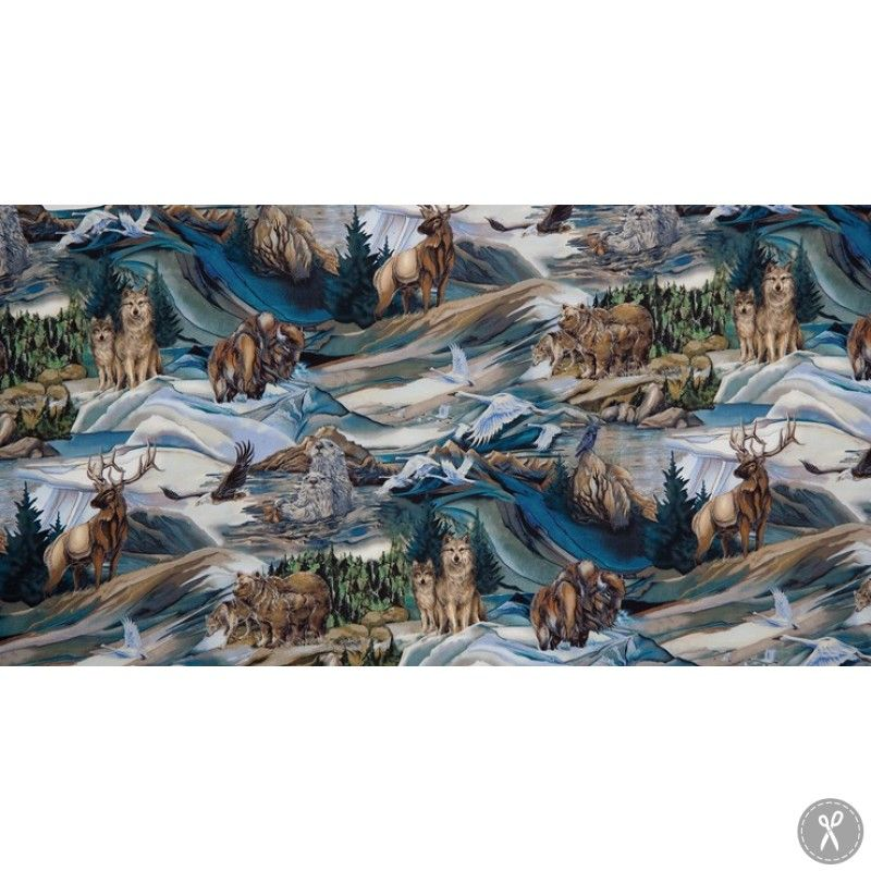 North American Wildlife Animals - Earth | Quilting Fabric | Fabric ... : wildlife quilt fabric - Adamdwight.com