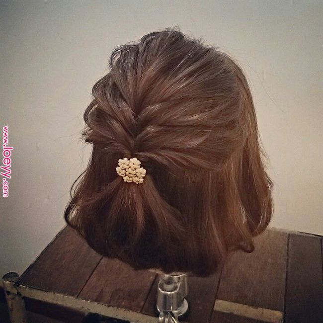 Pin by Kathleen Mueller on Hair: Half-up | Short wedding hair, Hair, Prom hairst…